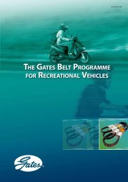 THE GATES BELT PROGRAMME FOR RECREATIONAL VEHICLES