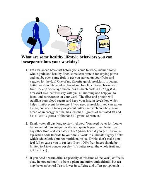 What are some healthy lifestyle behaviors you can - Iowa