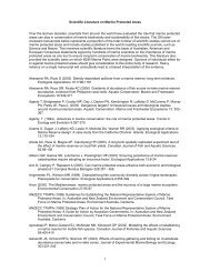 Scientific Literature on Marine Protected Areas - Marine Parks ...