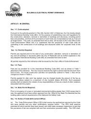 Building and Electrical Permit Ordinance - City of Waterville