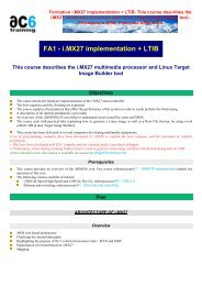 This course describes the i.MX27 multimedia proces - ac6-training