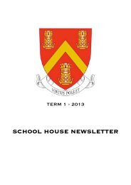 SCHOOL HOUSE NEWSLETTER - King's College