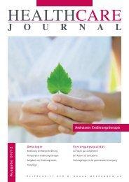 Ernährungstherapie in der Onkologie - HealthCare Journal - B ...