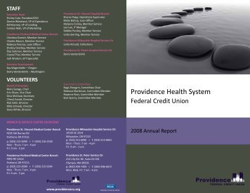 2008 Annual Report.3 - Providence Federal Credit Union