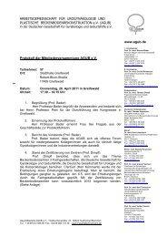 Protokoll der Mitgliederversammlung AGUB e.V. ...