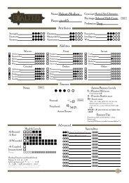 Mortal Character Sheet