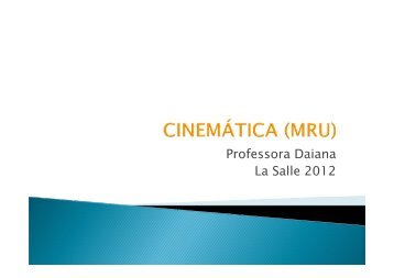 (Microsoft PowerPoint - Cinem\341tica Movimento Uniforme) - La Salle