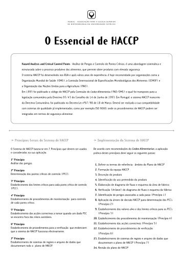 O Essencial de HACCP - ESAC