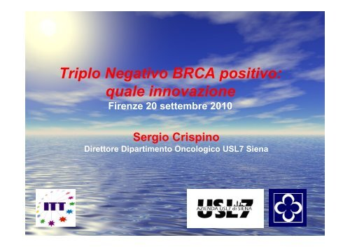 Triplo Negativo BRCA positivo: quale innovazione