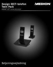 Design DECT-telefon Twin Pack Betjeningsvejledning - Medion