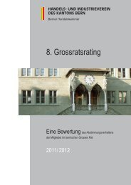 Rating 2011 2012 - Handels- und Industrieverein des Kantons Bern