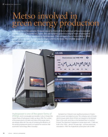 green energy production Metso involved  in