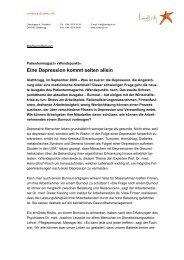 Eine Depression kommt selten allein - Depression.ch
