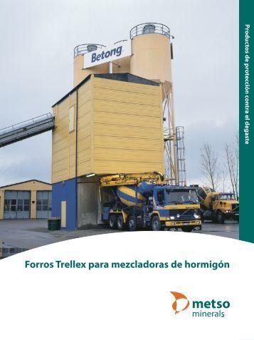 Forros Trellex para mezcladoras de hormigón - Metso