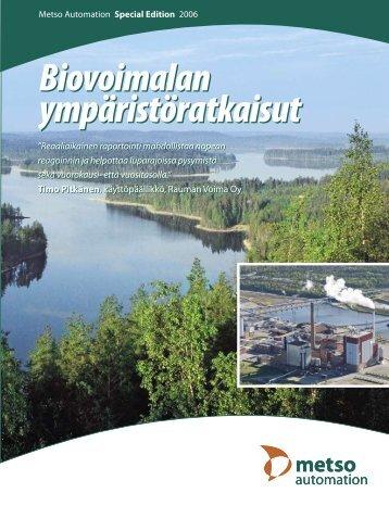 Biovoimalan ympäristöratkaisut Biovoimalan ympäristöratkaisut