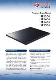 Product Data Sheet SF130-L SF140-L SF145-L SF150-L - SolarClarity