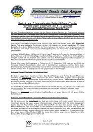 Bericht zum 17. internationalen Rollstuhl-Tennis-Turnier ... - RTCA