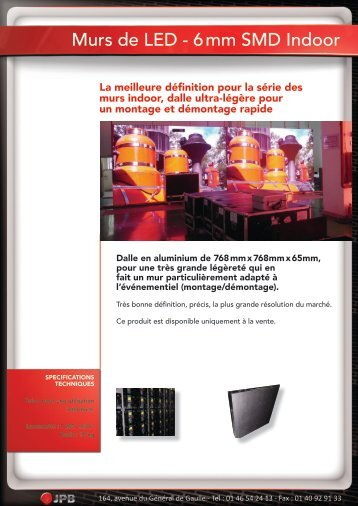 Murs de LED - 6 mm SMD Indoor Murs d - JPB Audiovisuel