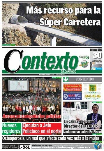 Nuevos regidores - Contexto de Durango
