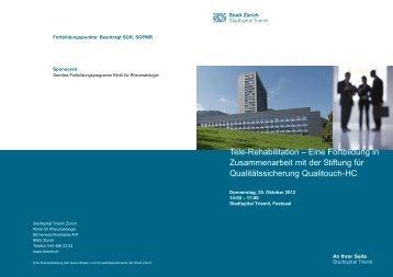 Tele-Rehabilitation – Eine Fortbildung in ... - Qualitouch-HC