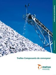 Trellex Composants de convoyeur - Metso