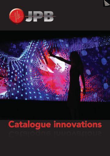 Catalogue innovations Catalogue innovations - JPB Audiovisuel