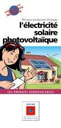 l'électricité solaire photovoltaïque - Espace Info Energie Pays de la ...