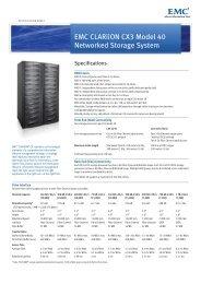 EMC CLARiiON CX3 Model-40 Specification Sheet - EMC Centera