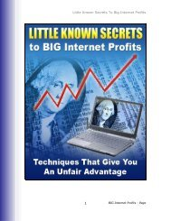 Little Known Secrets To Big Internet Profits 1 - Are You In It To Win It