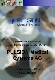 PULSION Medical Systems AG - PULSION Medical Systems SE