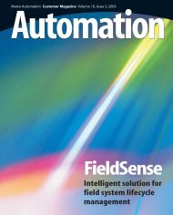 Intelligent solution for field system lifecycle ... - Metso's automation