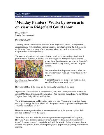 'Monday Painters' Works by seven arts on view in ... - Abby Luby