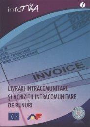 Livrări inrtacomunitare şi achiziţii intracomunitare de bunuri