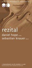 rezital - Meister & Kammerkonzerte