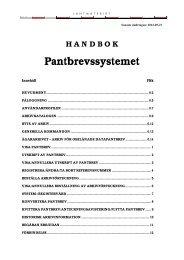 Handbok Pantbrevssystemet (pdf) - Lantmäteriet