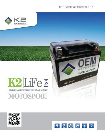 to view the K2 MOTOSPORT Battery Brochure - Master Instruments