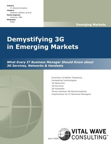 Demystifying 3G in Emerging Markets - Vital Wave Consulting
