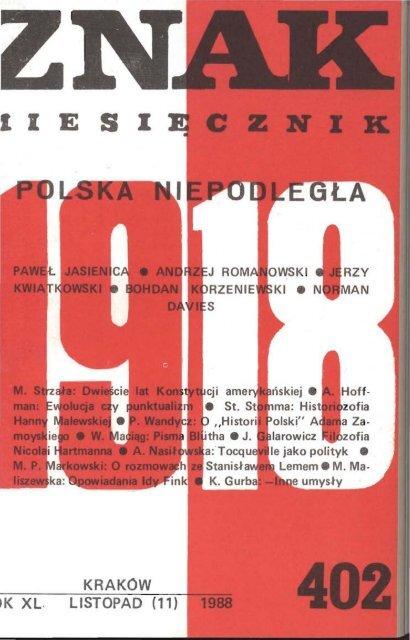 Nr 402 Listopad 1988 Znak