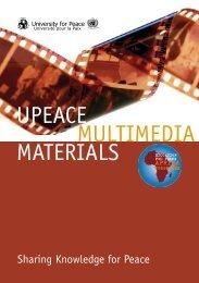 UPEACE MULTIMEDIA MATERIALS - Steiner Graphics