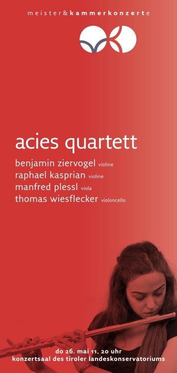 acies quartett - Meister & Kammerkonzerte