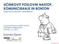 Učinkovit poslovni nastop, komuniciranje in bonton - GZDBK