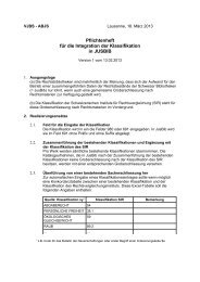 Pflichtenheft für die Integration der Klassifikation - VJBS – ABJS