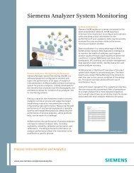 Siemens Analyzer System Monitoring
