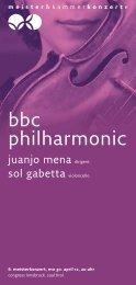 bbc philharmonic - Meister & Kammerkonzerte