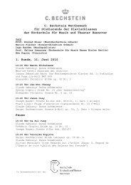 Vorläufiger Ablaufplan des Wettbewerbs - Hochschule für Musik ...