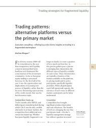 Trading patterns: alternative platforms versus the primary ... - Autobahn