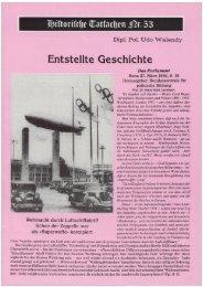 Historische Tatsachen - Nr. 53 - Udo Walendy - Entstellte Geschichte