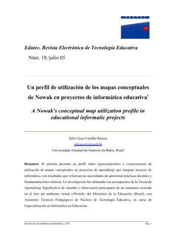 Un perfil de utilización de los mapas conceptuales de Nowak en ...