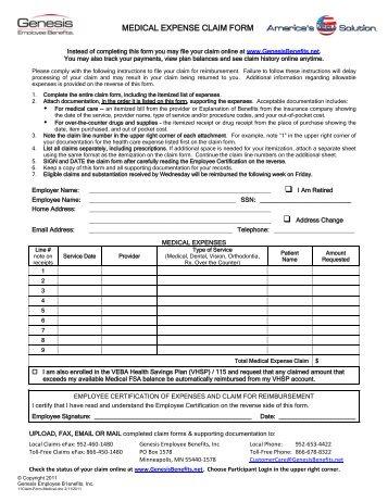 Medical Claim Form