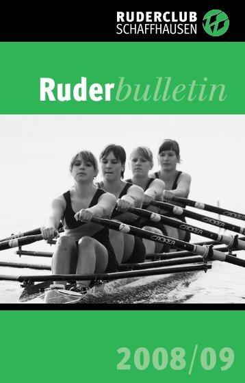 Bulletin 195 September 2008 - beim Ruderclub Schaffhausen